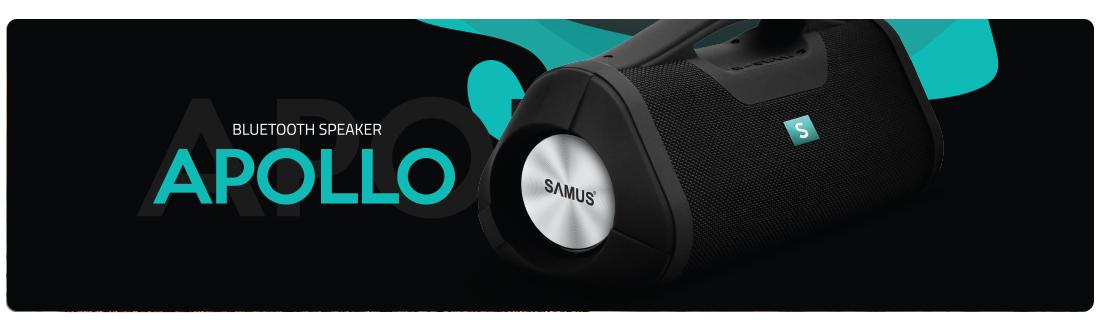 Boxa portabila Samus Apollo Bluetooth Black