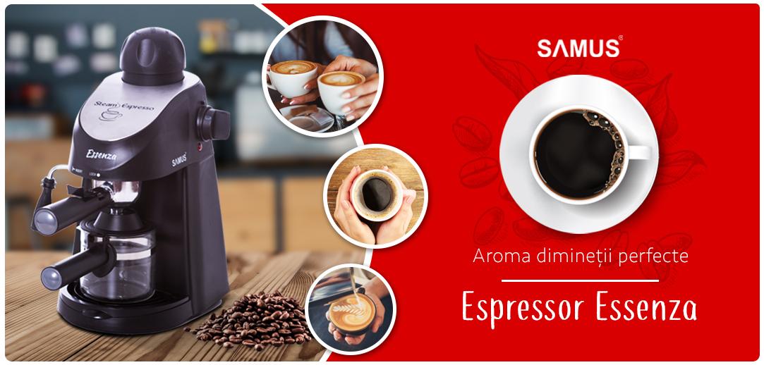 Espressor Samus Essenza 800W 3.5 bari 240ml Silver-Black